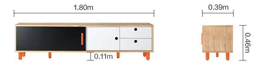 mẫu 8 kích thước kệ tivi đơn giản chân sắt