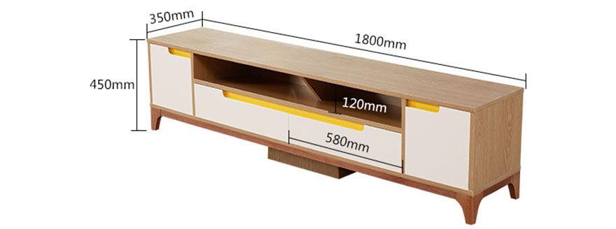 mẫu 2 chi tiết kích thước kệ tivi gỗ công nghiệp ngang 1800mm