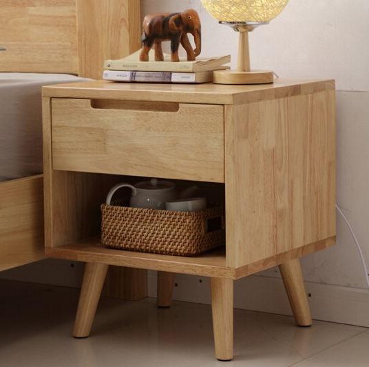 Tủ đầu giường gỗ cao su