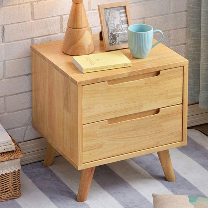 Tủ đầug giường chân gỗ