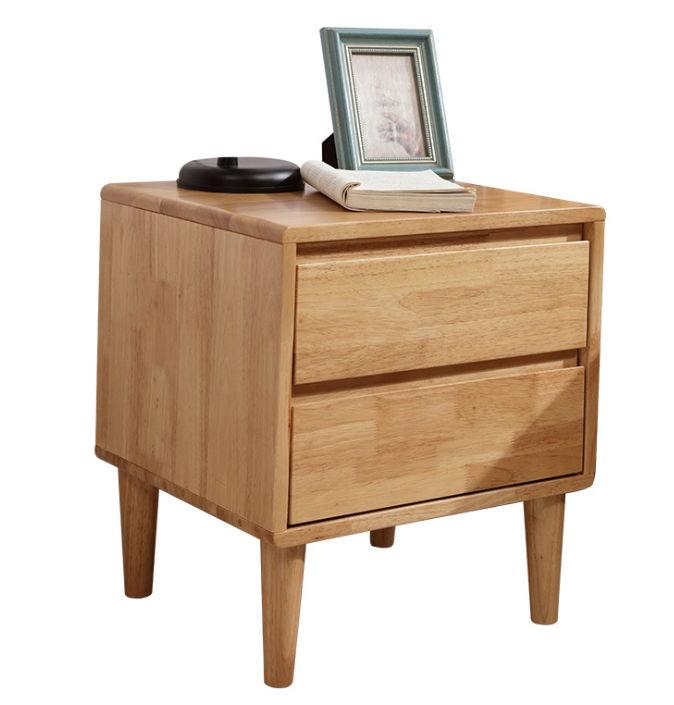 tủ đầu giường gỗ cao su kiểu tay móc