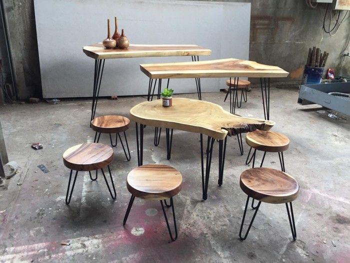 Bộ bàn ghế gỗ me tây cực đa dạng