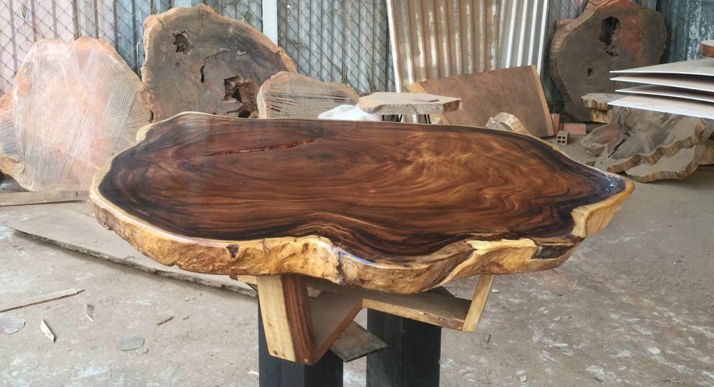 Mặt bàn trà gỗ me tây
