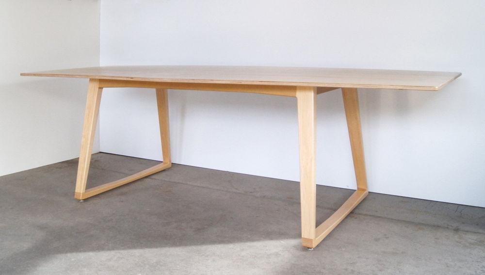 Mặt bàn gỗ Plywood chân gỗ sồi
