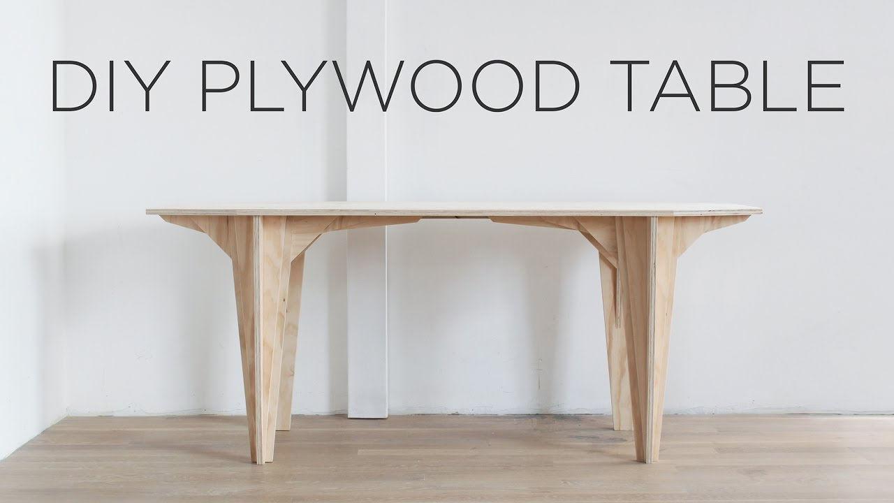 Bàn và chân hoàn toàn gỗ Plywood cắt cnc của một DIY