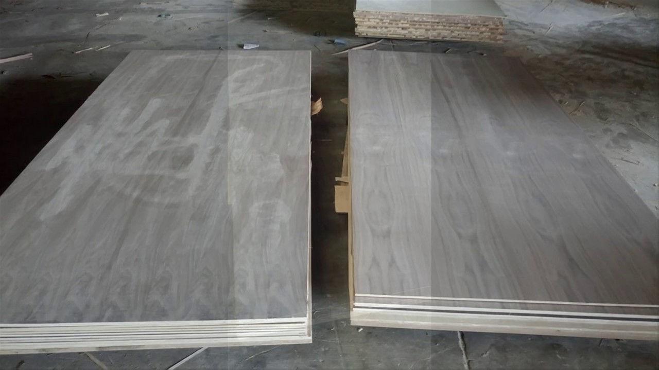 Plywood phủ veneer gỗ góc chó