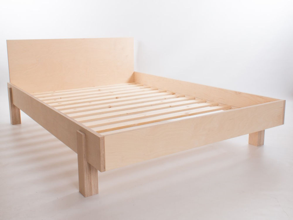 Mẫu giường đơn giản gỗ plywood