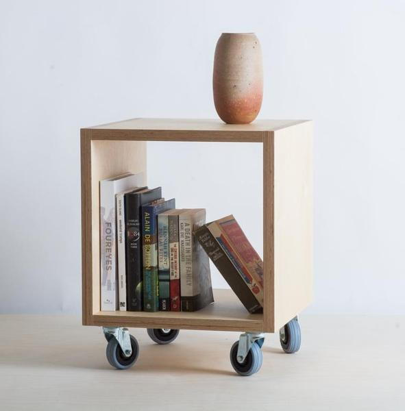 Kệ sách di động đơn giản gỗ Plywood