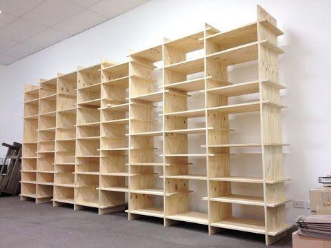 Kệ sách Plywood lắp ráp