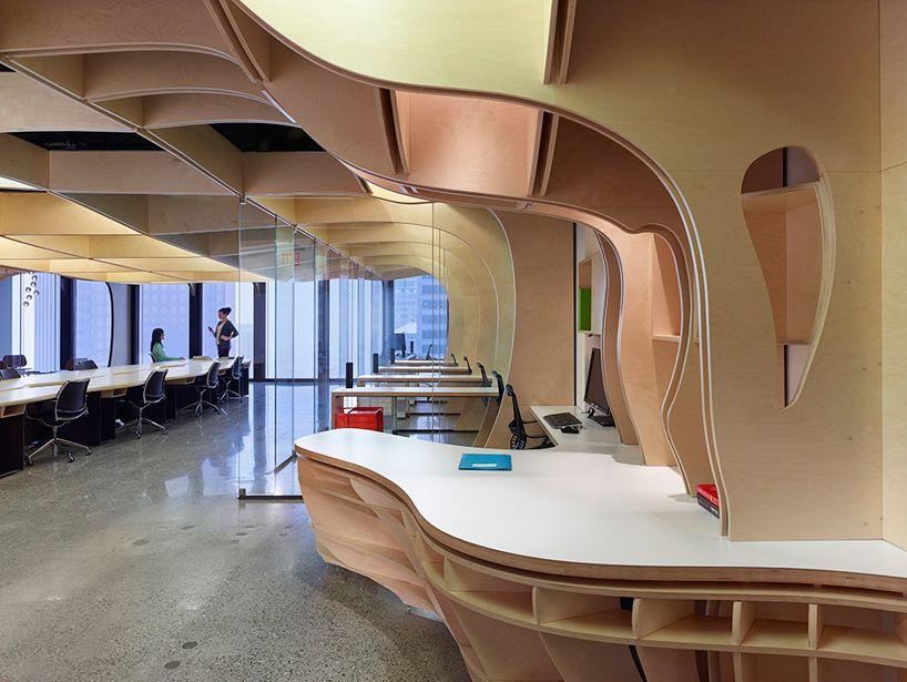 Thiết kế văn phòng gỗ Plywood