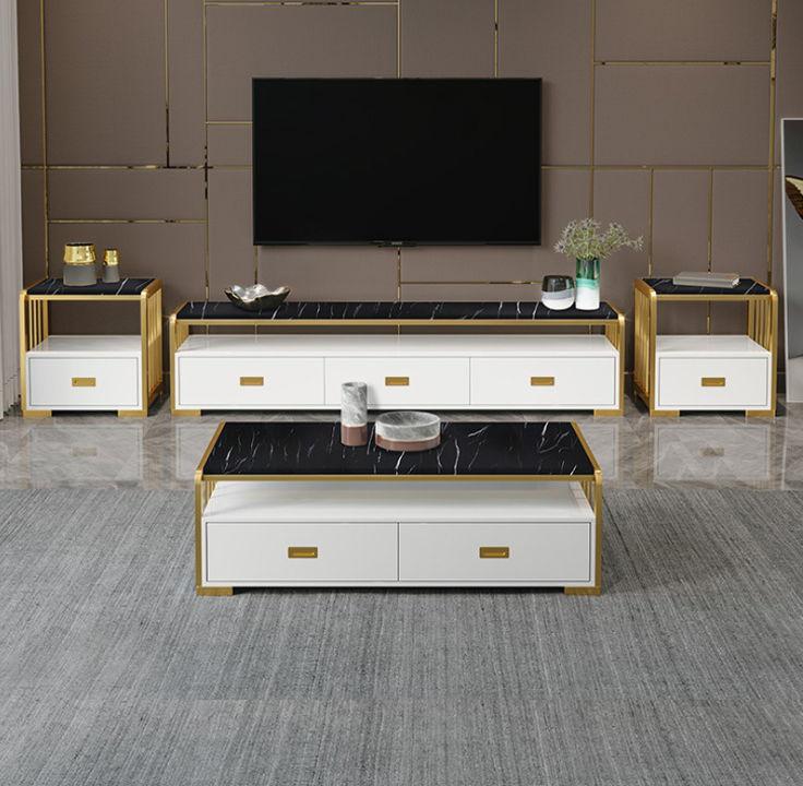 bộ 5 món tủ tivi bàn trà và kệt trang trí