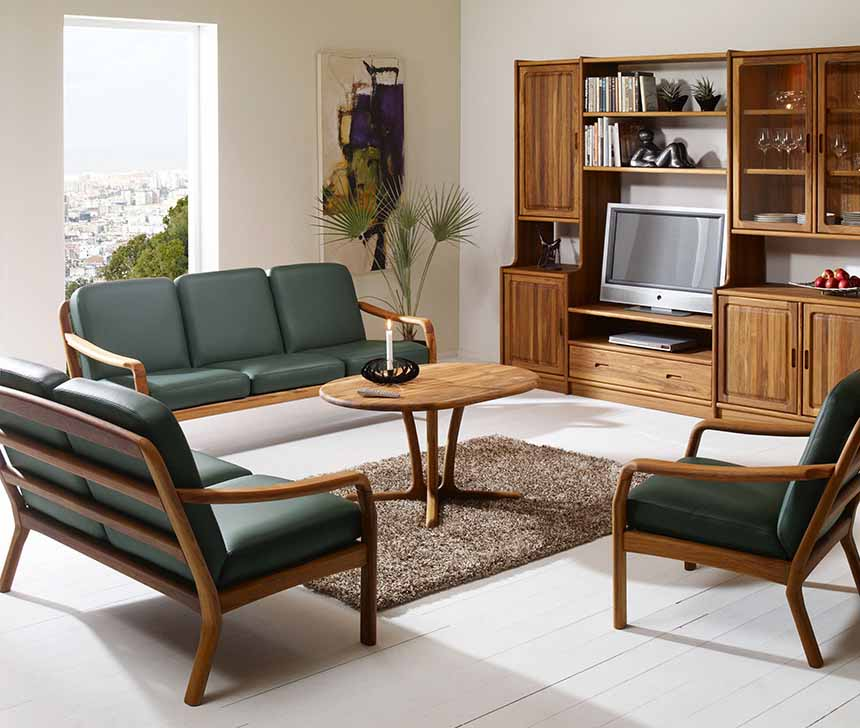 bàn ghế gỗ phong khách hiện đại