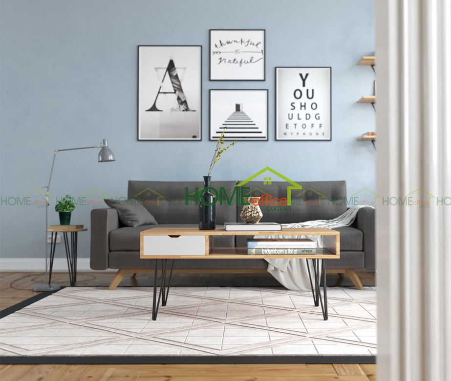 bàn ghế gỗ phòng khách mini