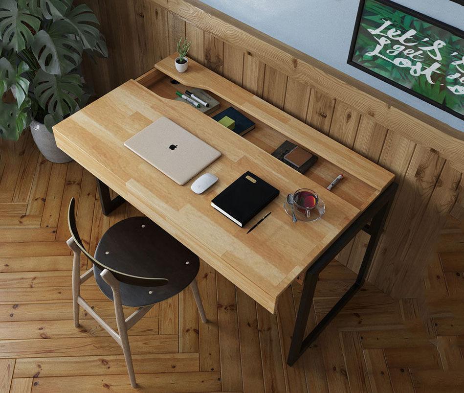 bàn gỗ cao su làm việc tại nhà