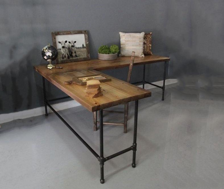 bàn gỗ góc chữ L
