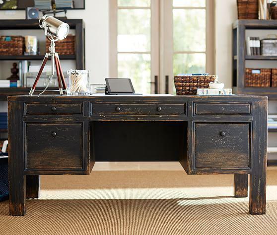 bàn gỗ làm việc tại nhà đẹp