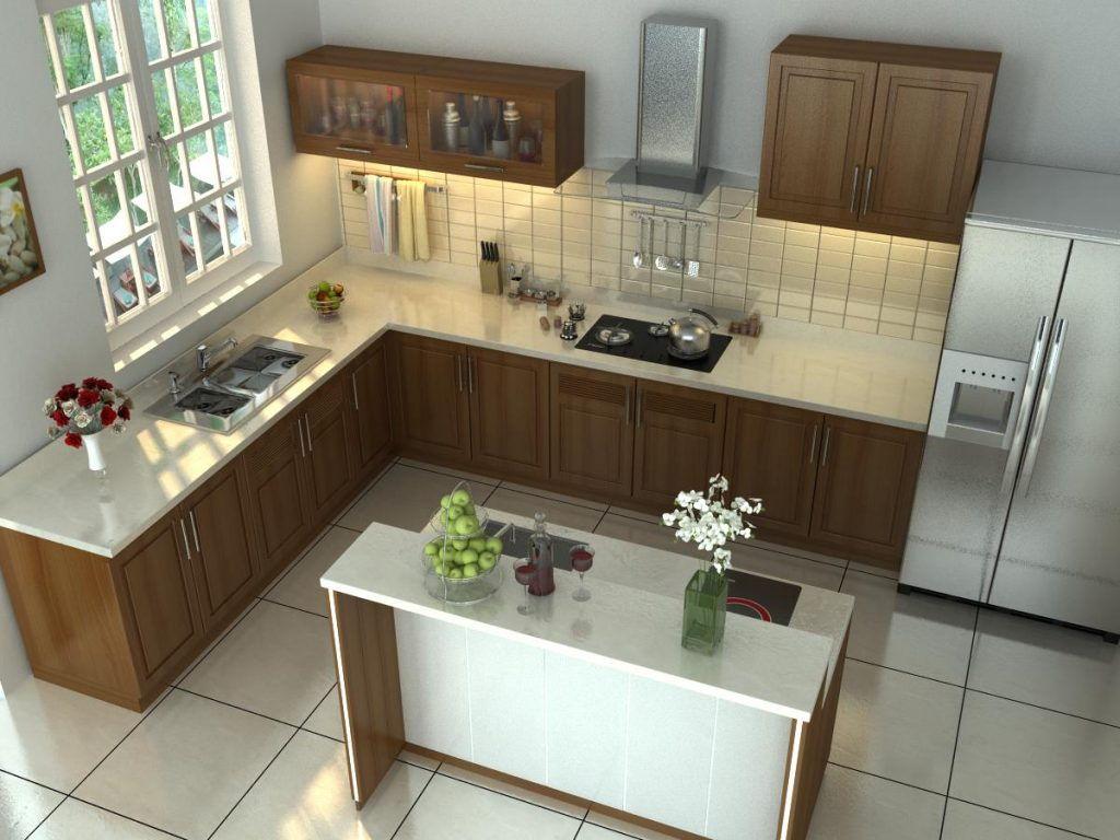 Mẫu thiết kế phòng bếp nhà phố đẹp 3