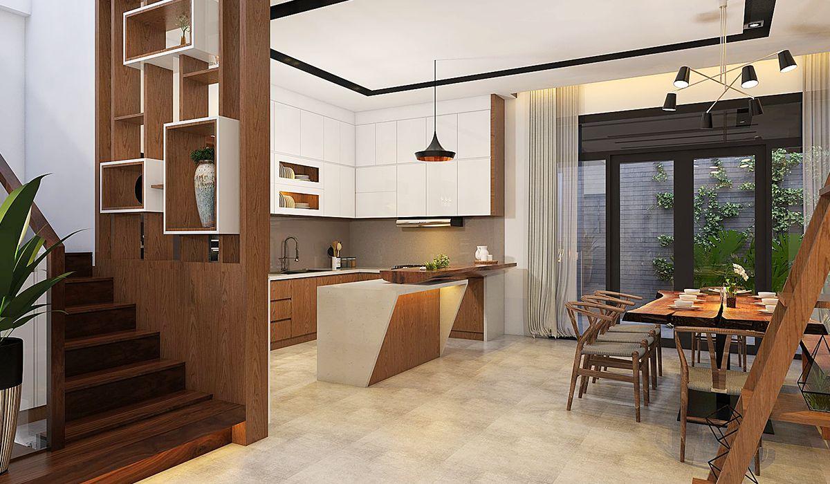 Mẫu thiết kế phòng bếp nhà phố đẹp 5
