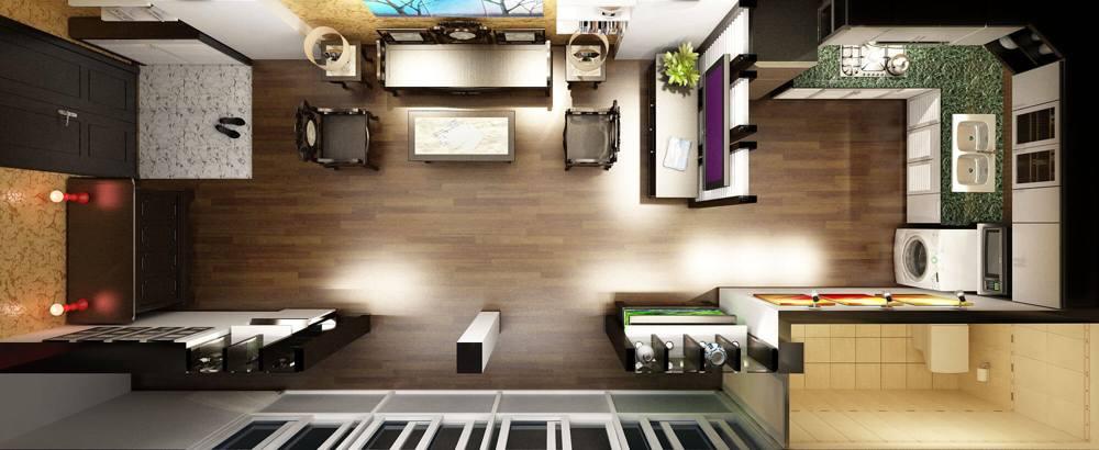 thiết kế phòng khách thông phòng bếp