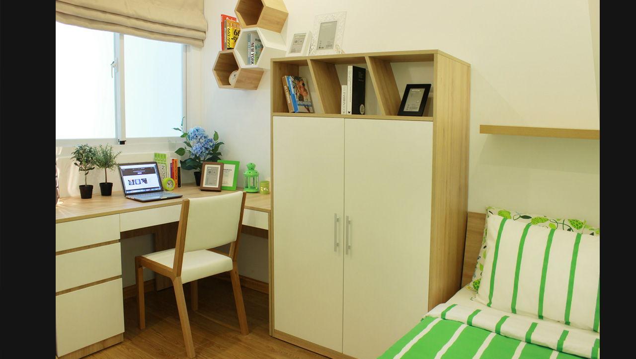 Phòng ngủ nhỏ căn hộ chung cư Melody Residence Âu Cơ