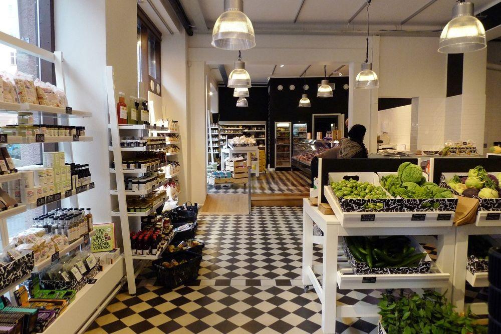 Thiết kế cửa hàng thực phẩm sạch shophouse căn hộ chung cư