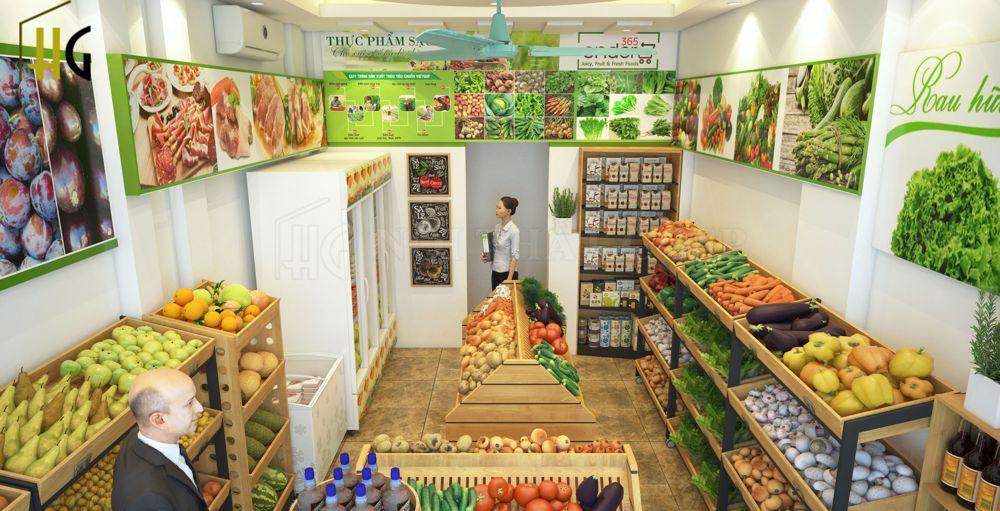 Thiết kế cửa hàng bán thực phẩm sạch