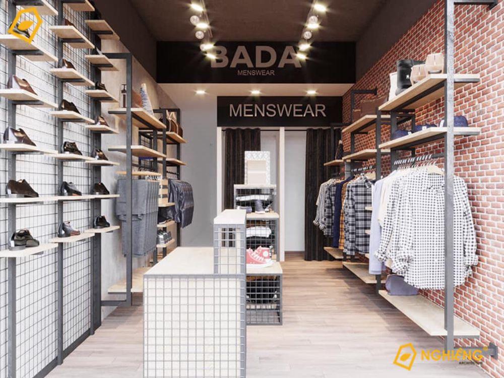 Shop quần áo Nam kết hợp với giầy dép