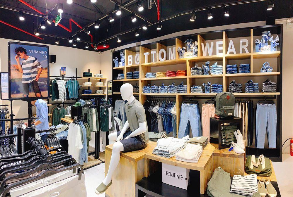 Shop quần áo routine thiết kế thi công