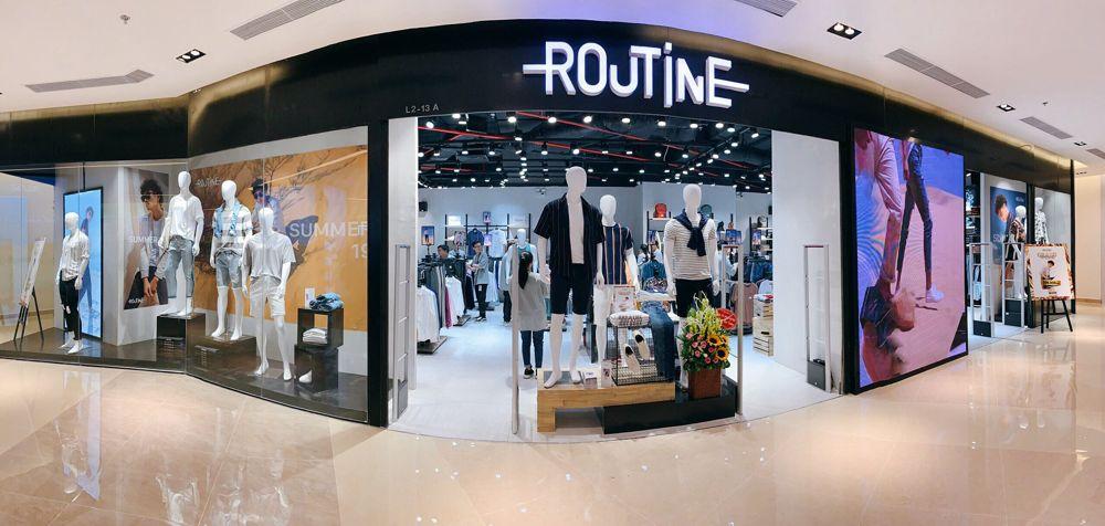 Thiết kế shop thời trang nam Routine