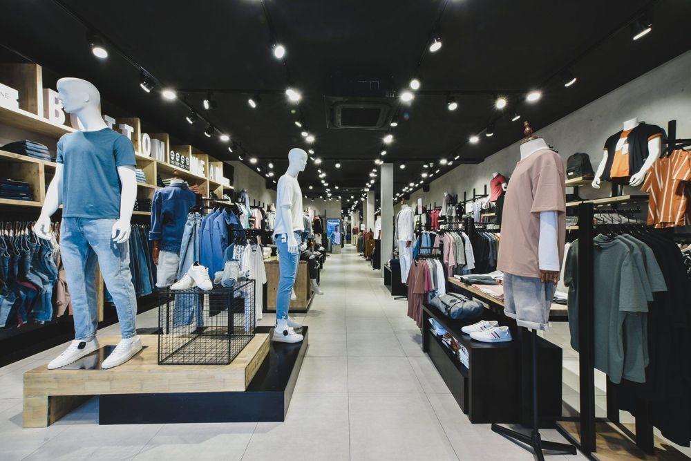 Nội thất shop thời trang Nam Routine Nguyễn Thi Thập Quận 7