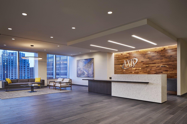 thiết kế khu vực lễ tân văn phòng
