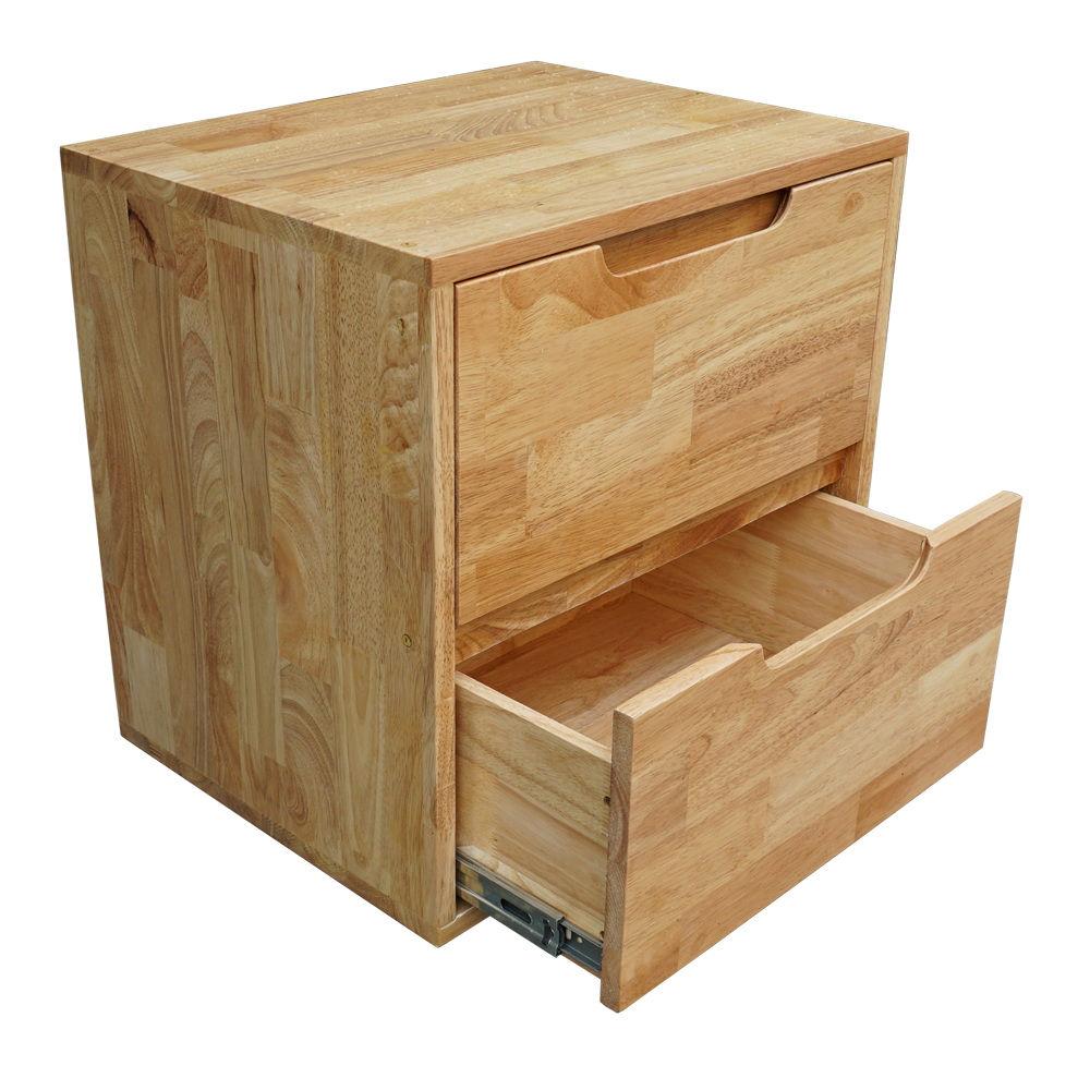 Tủ đầu giường 2 học kéo gỗ cao su