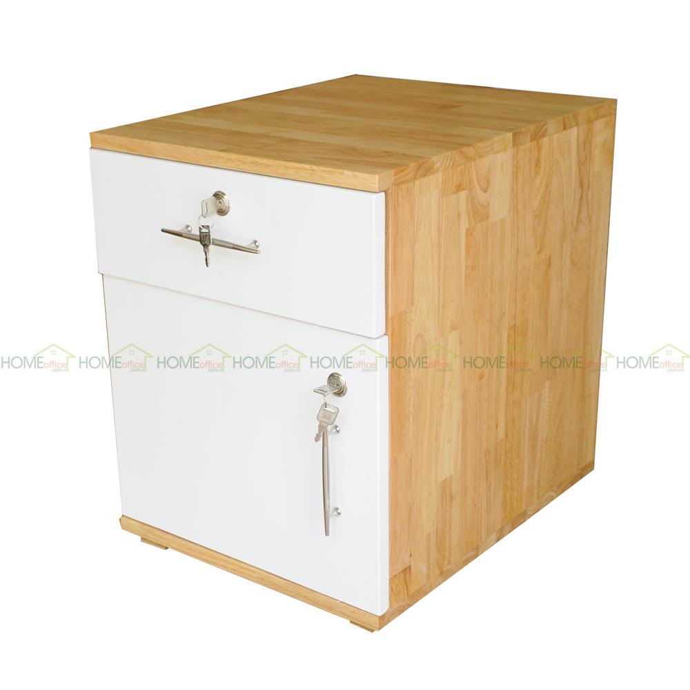tủ cá nhân, tủ hồ sơ được làm bằng chất liệu gỗ cao su
