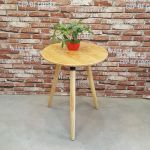 bàn cafe gỗ cao su