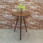 bàn cafe gỗ cao su 3 chân