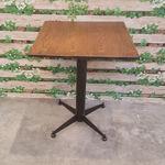 bàn cafe gỗ cao su chân sắt