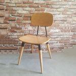 Ghế cafe gỗ cao su có tựa lưng