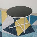 SFBT024 -  Bàn Sofa chân chữ thập mặt kính đen