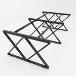 SFXC122 - Chân bàn cụm 4 chỗ sắt 25x50 lắp ráp chữ X
