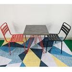 CBCF013 - Bộ bàn cafe chân sọc phi và 2 ghế sắt sơn tĩnh điện