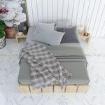 SFGN006 - Giường ngủ gỗ thông đơn giản kế hợp kệ đầu giường