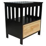 SFTDG020 - Tủ đầu giường 1 ngăn kéo màu đen