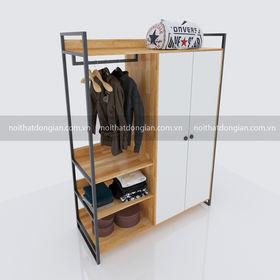 Tủ quần áo kết hợp kệ sếp và treo