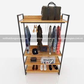 SFKQA002 - Kệ treo quần áo 4 tầng để đồ 1 hàng treo