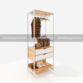 SFKQA004- Kệ quần áo kết hợp 2 hộc kéo