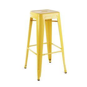 Ghế cafe tolix cao màu vàng