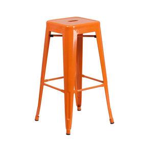 Ghế cafe tolix cao màu cam