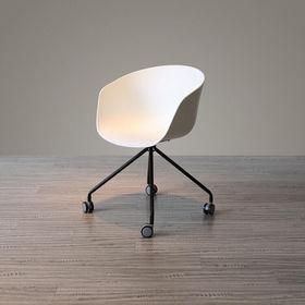 GCFC007- Ghế bàn cao lưng nhựa chân xoay