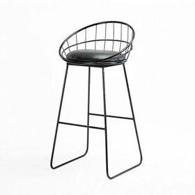 GCFC004- Ghế cafe cao chân sắt có lưng tựa