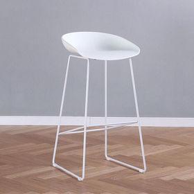 GCFC003- Ghế cafe cao chân sắt mặt nhựa